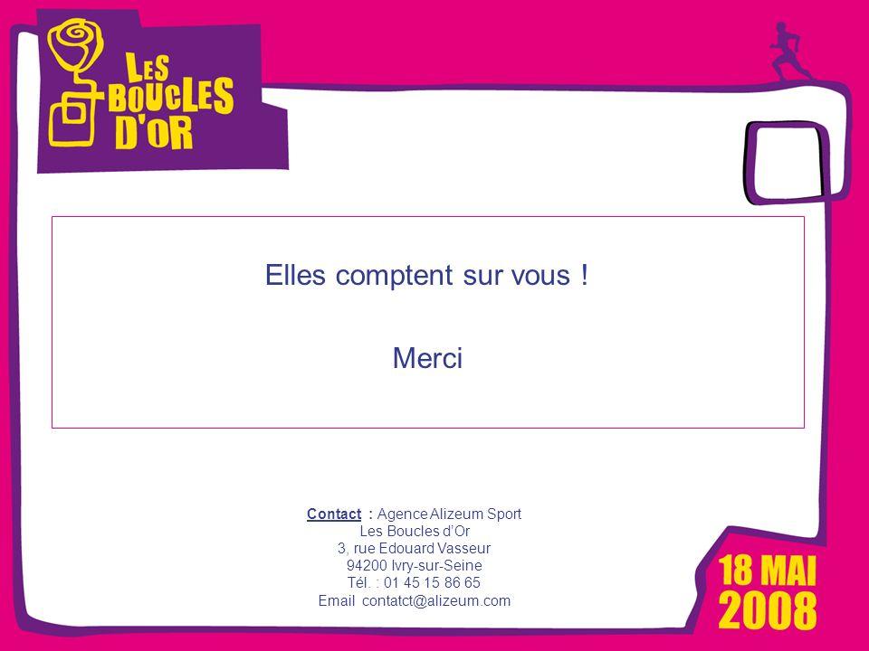 1000 femmes, 1000 vies pour Métro - Mars 2008 Les Boucles dOr, un événement Alizeum Sport Elles comptent sur vous ! Merci Contact : Agence Alizeum Spo