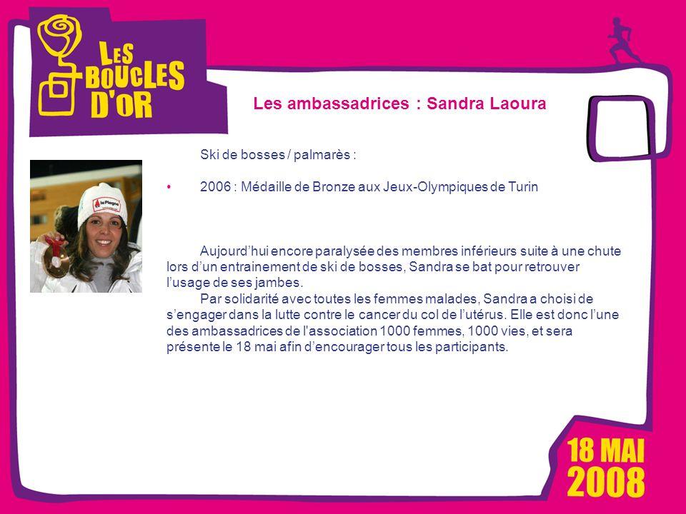 1000 femmes, 1000 vies pour Métro - Mars 2008 Les Boucles dOr, un événement Alizeum Sport Les ambassadrices : Sandra Laoura Ski de bosses / palmarès :
