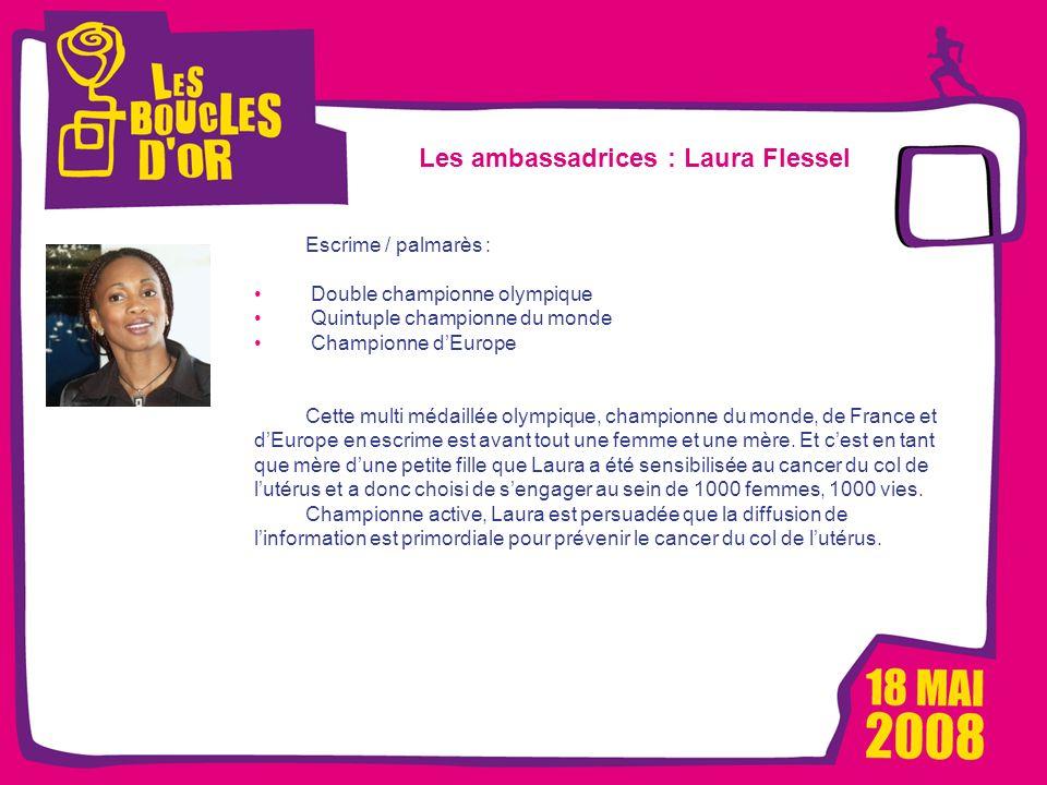 1000 femmes, 1000 vies pour Métro - Mars 2008 Les Boucles dOr, un événement Alizeum Sport Les ambassadrices : Laura Flessel Escrime / palmarès : Doubl