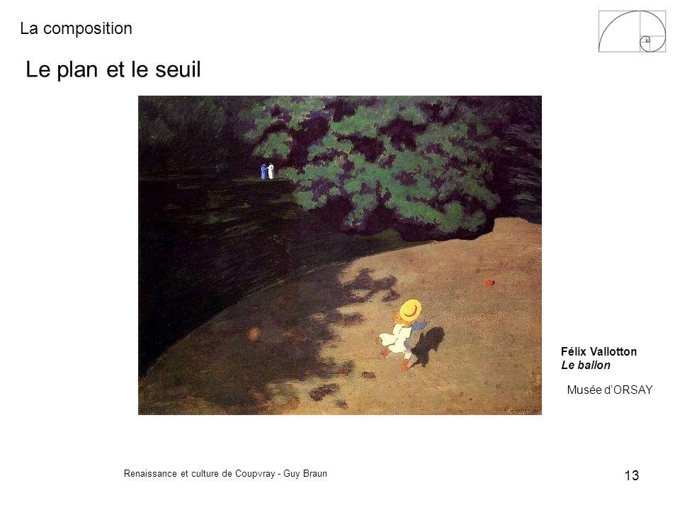 La composition Renaissance et culture de Coupvray - Guy Braun 13 Félix Vallotton Le ballon Musée dORSAY Le plan et le seuil