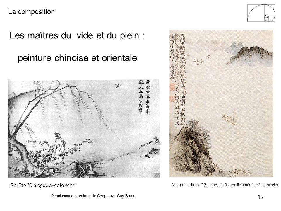 La composition Renaissance et culture de Coupvray - Guy Braun 17 Les maîtres du vide et du plein : peinture chinoise et orientale