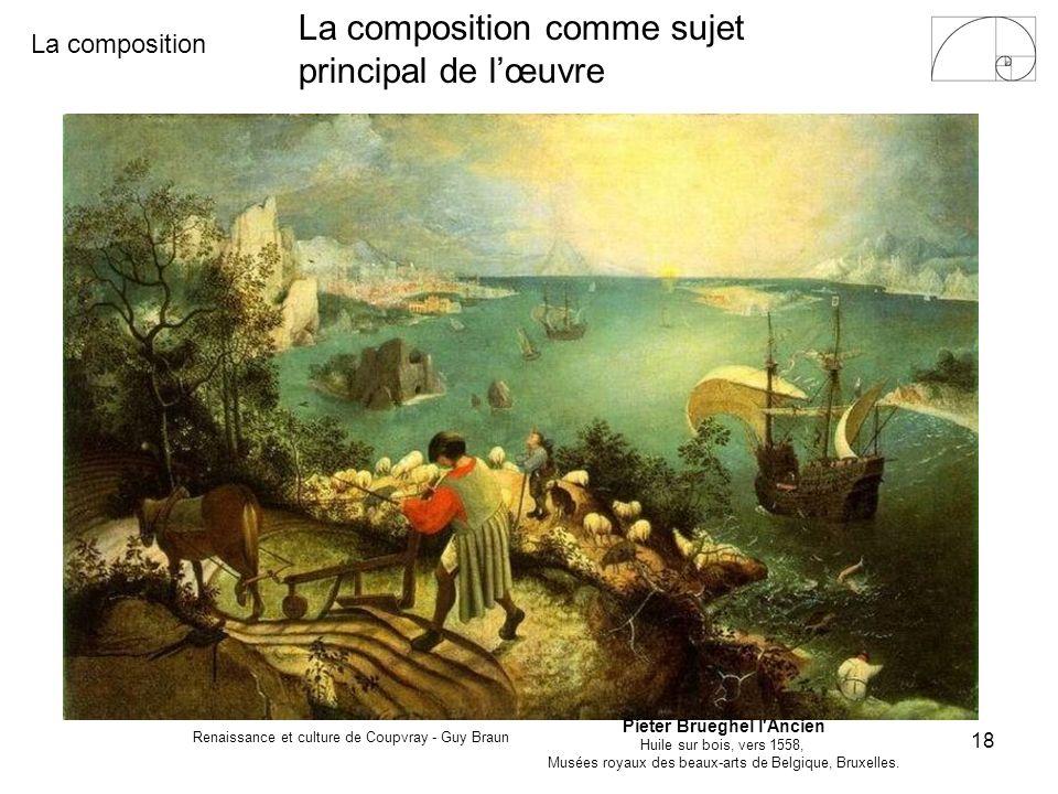 La composition Renaissance et culture de Coupvray - Guy Braun 18 Pieter Brueghel l'Ancien Huile sur bois, vers 1558, Musées royaux des beaux-arts de B