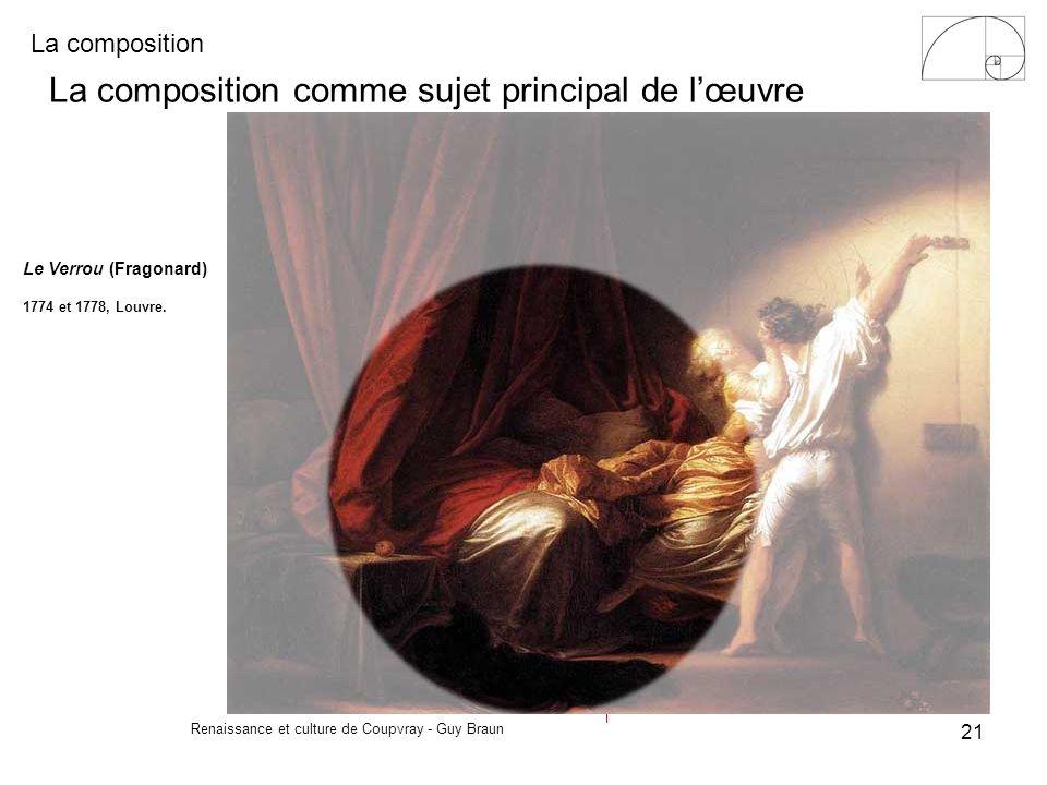 La composition Renaissance et culture de Coupvray - Guy Braun 21 La composition comme sujet principal de lœuvre Le Verrou (Fragonard) 1774 et 1778, Lo