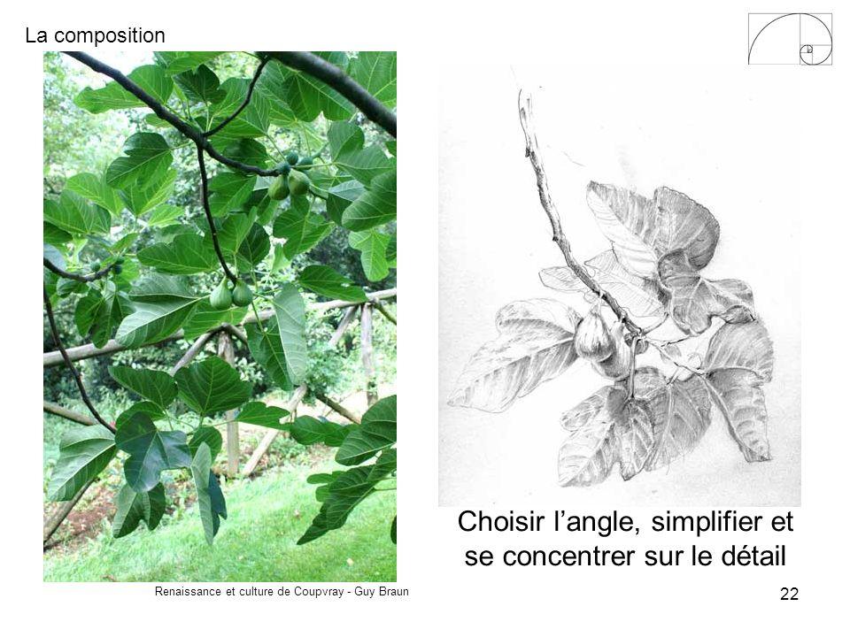 La composition Renaissance et culture de Coupvray - Guy Braun 22 Choisir langle, simplifier et se concentrer sur le détail