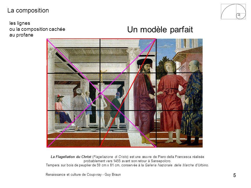 La composition Renaissance et culture de Coupvray - Guy Braun 6 les lignes ou la composition cachée au profane Le gobelet dargent 33 x 41 cm.