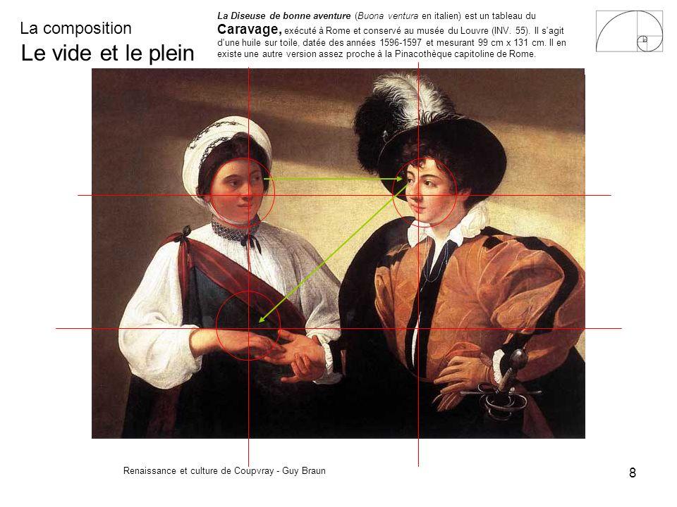 La composition Renaissance et culture de Coupvray - Guy Braun 8 Le vide et le plein La Diseuse de bonne aventure (Buona ventura en italien) est un tab