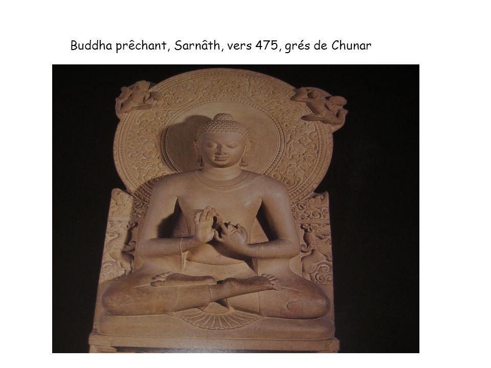 Buddha prêchant, Sarnâth, vers 475, grés de Chunar