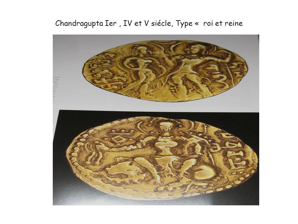 Chandragupta Ier, IV et V siécle, Type « roi et reine