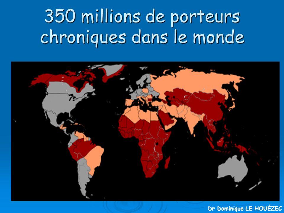 350 millions de porteurs chroniques dans le monde Dr Dominique LE HOUÉZEC