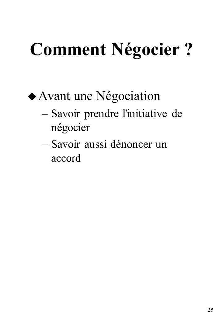 25 Comment Négocier .