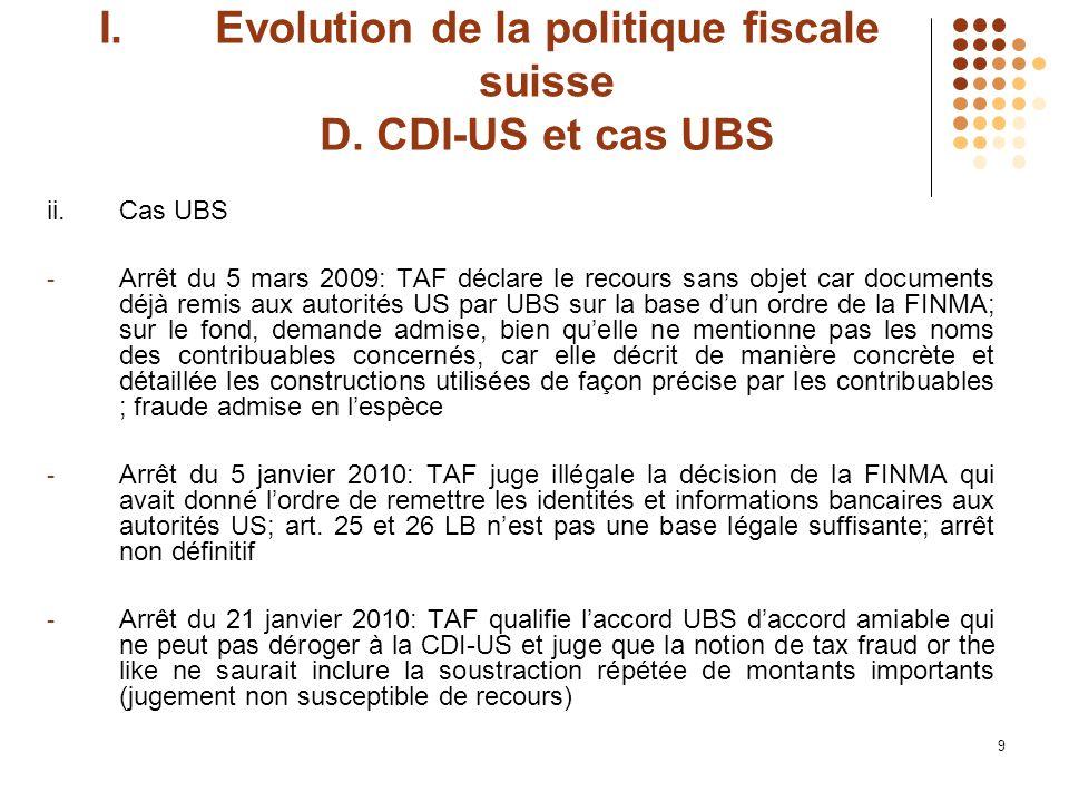 10 II.Changement de paradigme et conséquences pour la Suisse A.