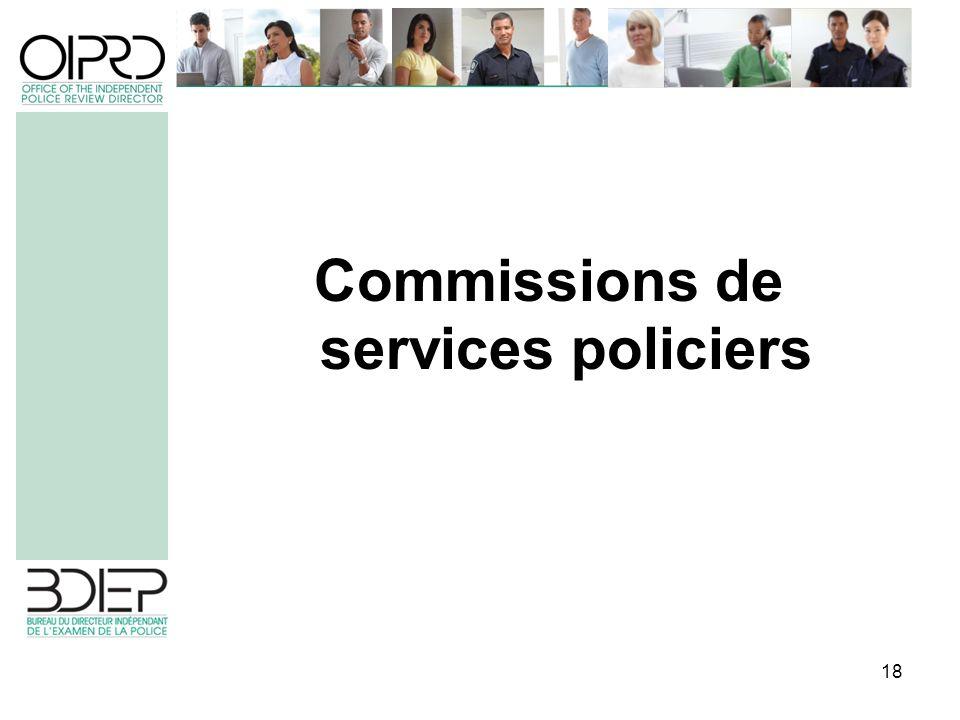 18 Commissions de services policiers