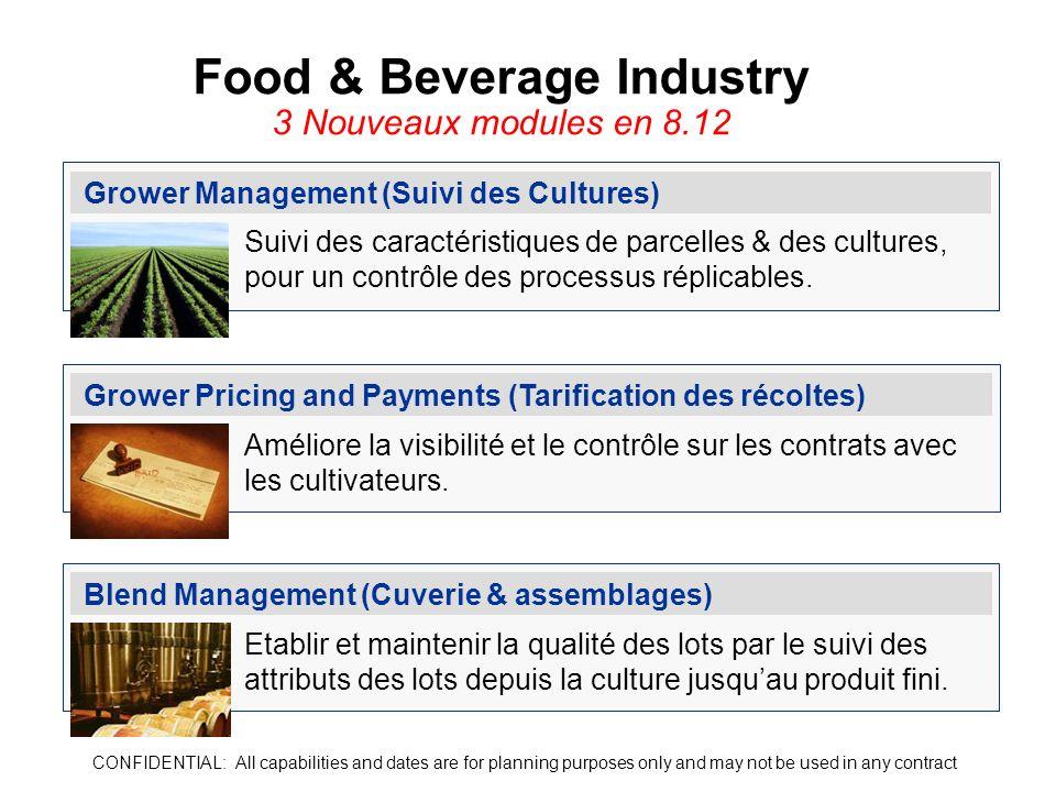 Grower Management (Suivi des Cultures) Suivi des caractéristiques de parcelles & des cultures, pour un contrôle des processus réplicables. Grower Pric