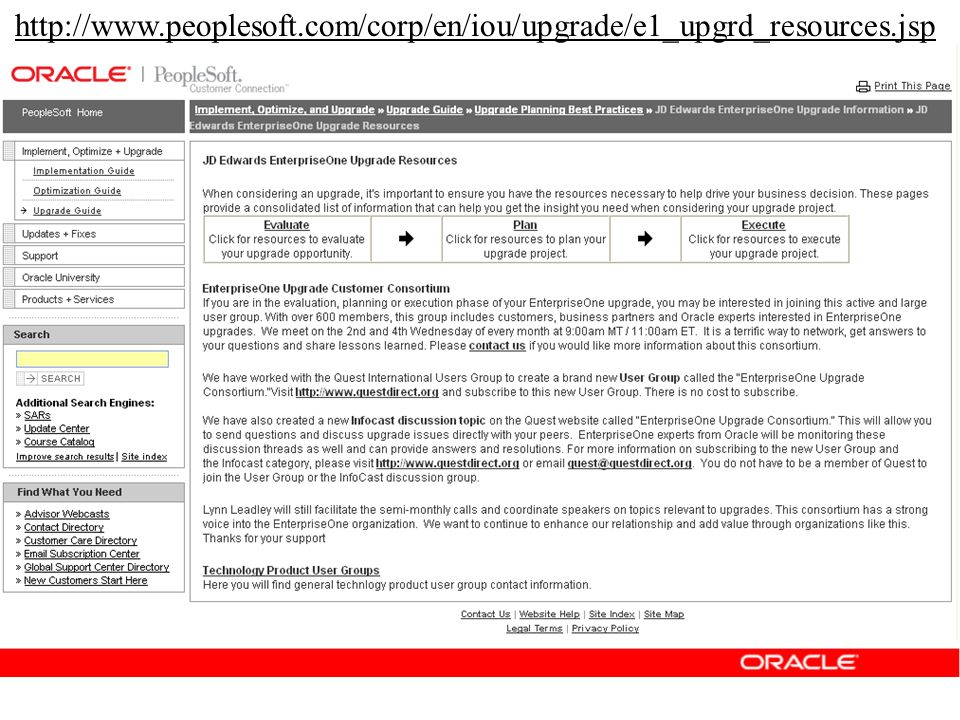 http://www.peoplesoft.com/corp/en/iou/upgrade/e1_upgrd_resources.jsp