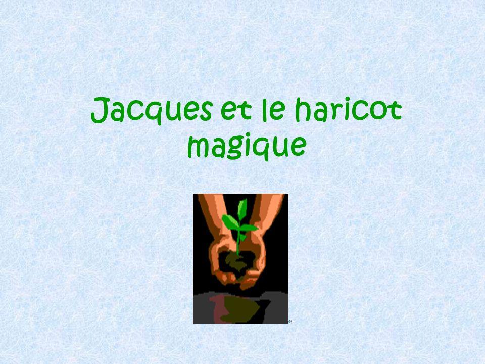 Jacques grimpe sur la tige de haricot. Il grimpe …… il grimpe … jusquau ciel.