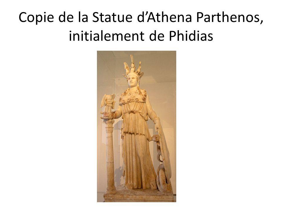 Copie de la Statue dAthena Parthenos, initialement de Phidias