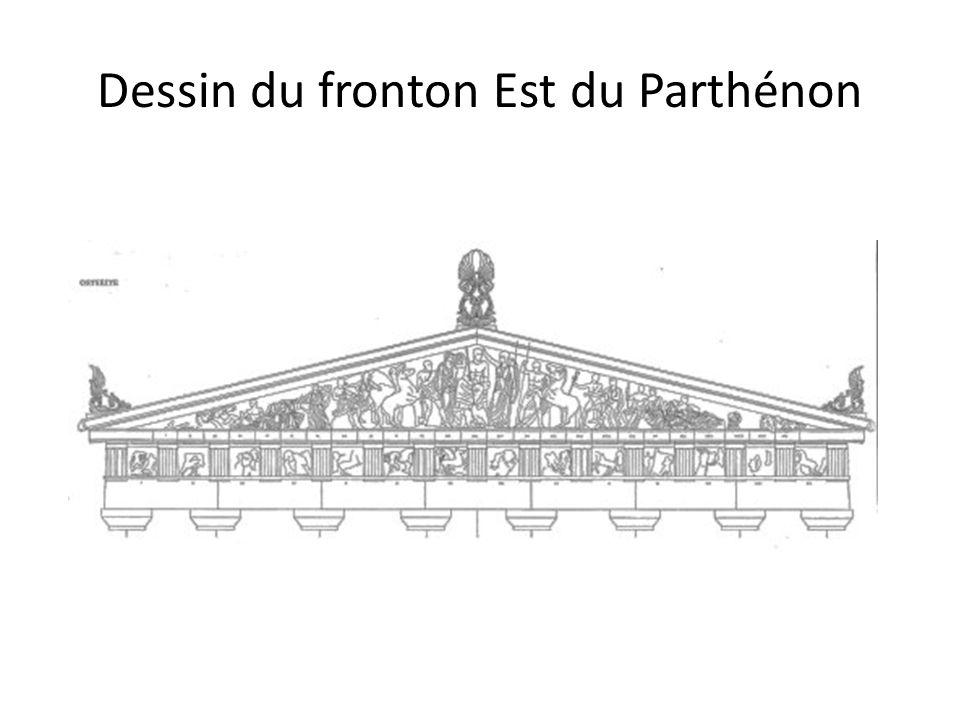 Dessin du fronton Est du Parthénon