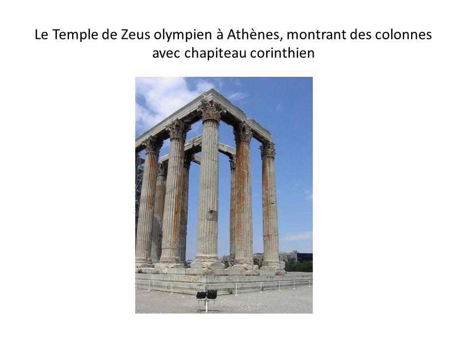 Le Temple de Zeus olympien à Athènes, montrant des colonnes avec chapiteau corinthien