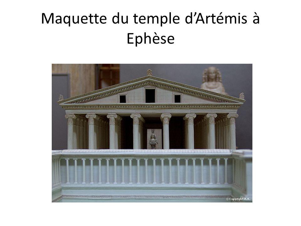 Maquette du temple dArtémis à Ephèse
