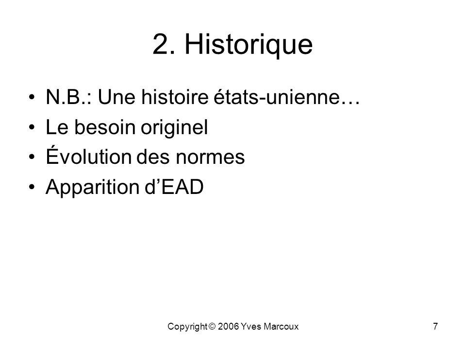 Copyright © 2006 Yves Marcoux6 Petit sondage! Qui… a déjà entendu parler des RDDA? utilise les RDDA dans son travail? a déjà entendu parler de EAD? lu