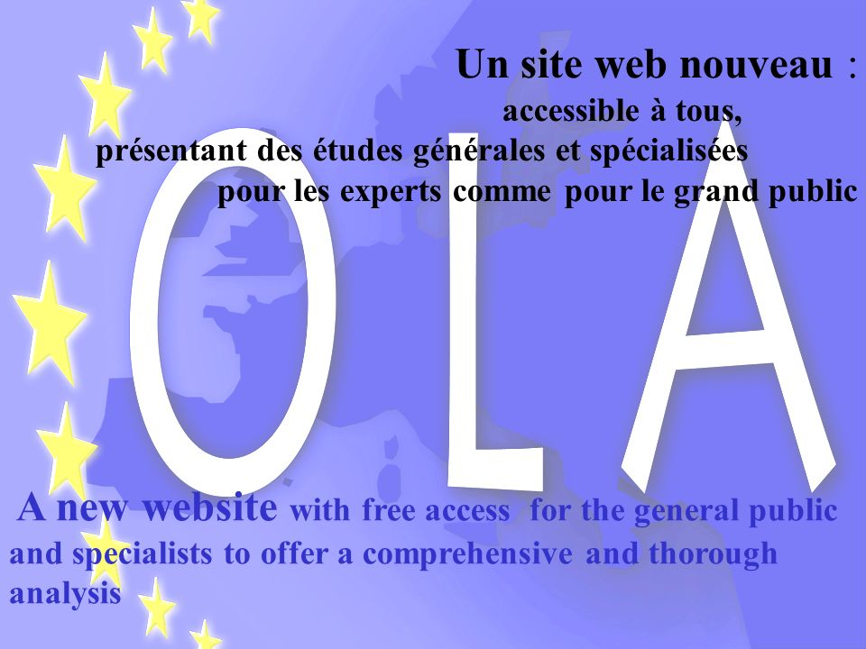 Initié par des chercheurs de lUniversité de Lille 2 (France), OLA est un réseau de recherche scientifique, principalement composé duniversitaires et d