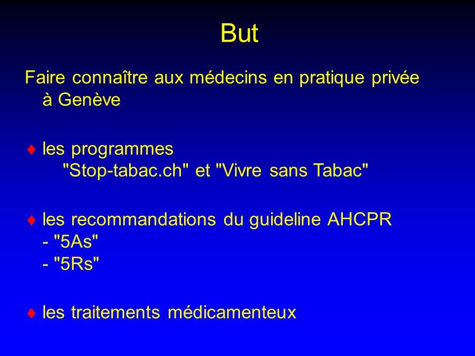 But Faire connaître aux médecins en pratique privée à Genève les programmes