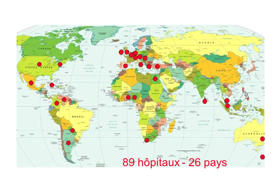 89 hôpitaux - 26 pays