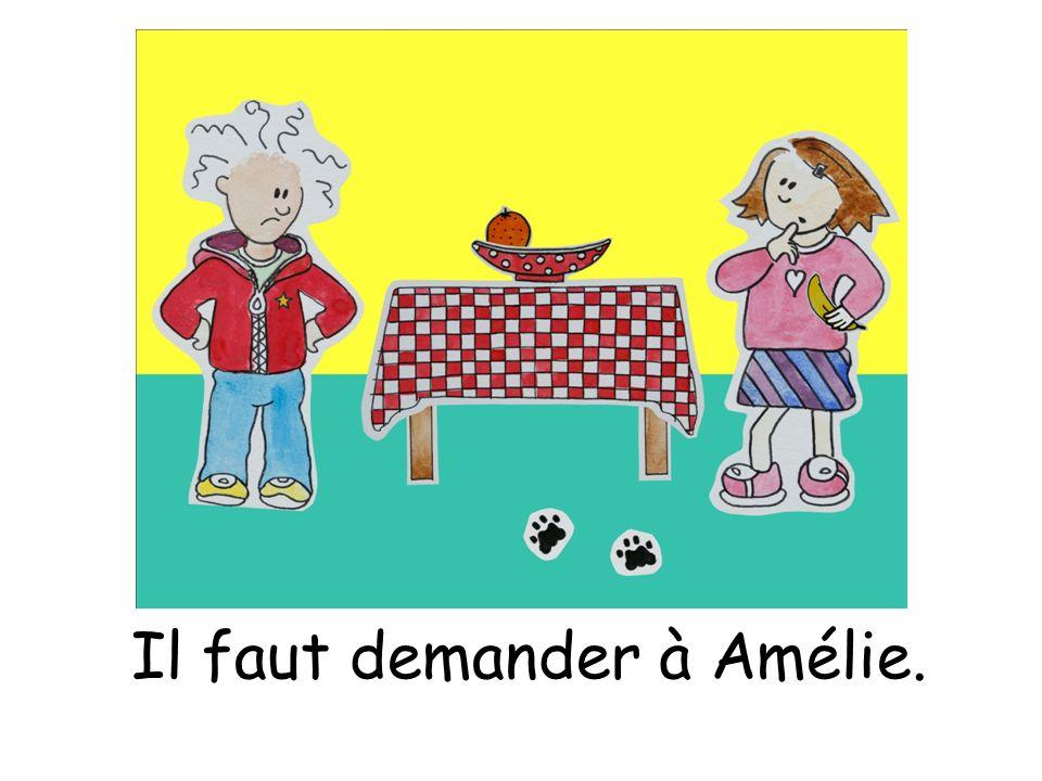 Il faut demander à Amélie.