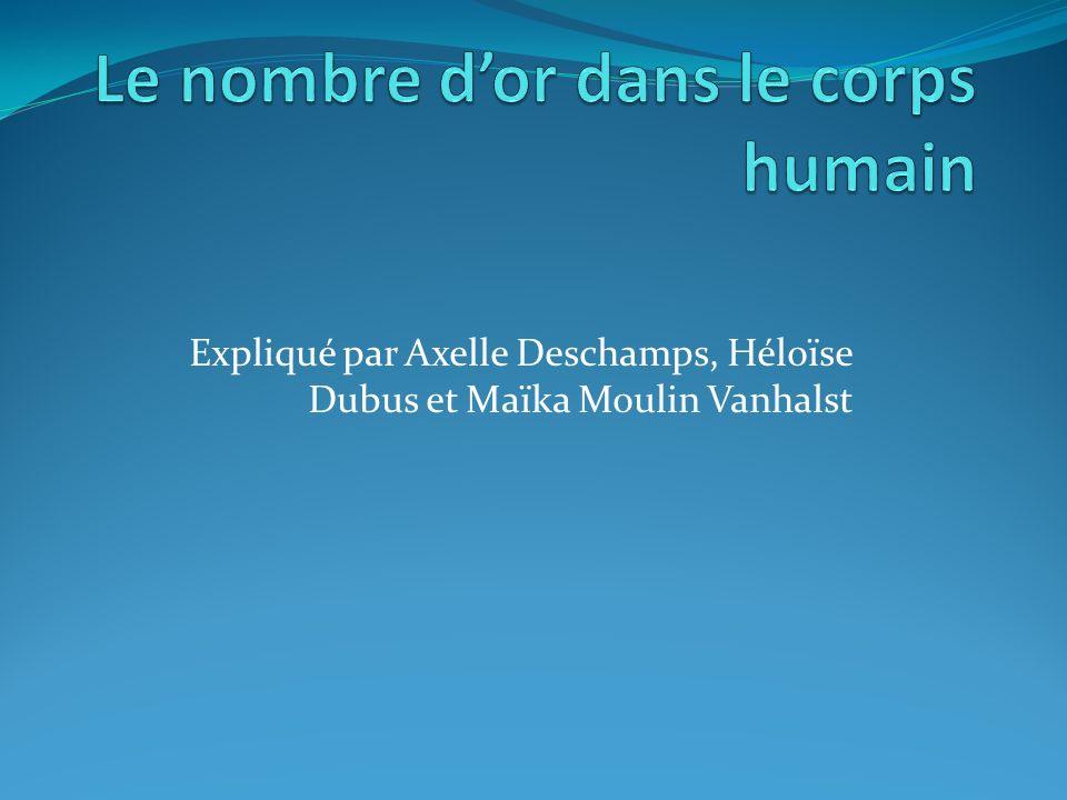 Expliqué par Axelle Deschamps, Héloïse Dubus et Maïka Moulin Vanhalst
