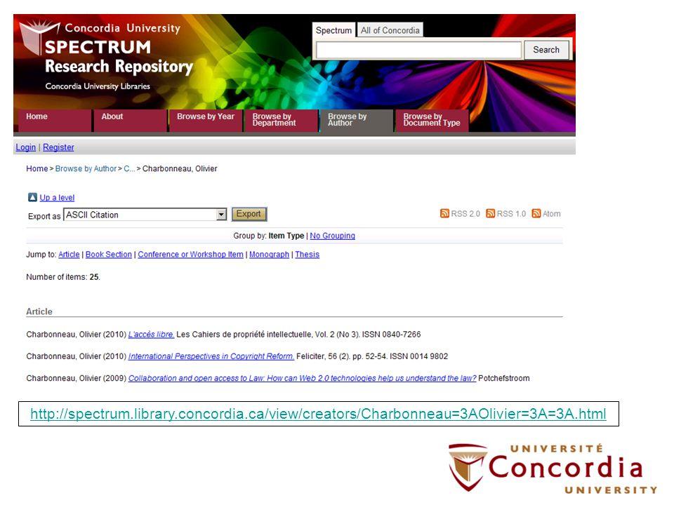 http://spectrum.library.concordia.ca/view/creators/Charbonneau=3AOlivier=3A=3A.html