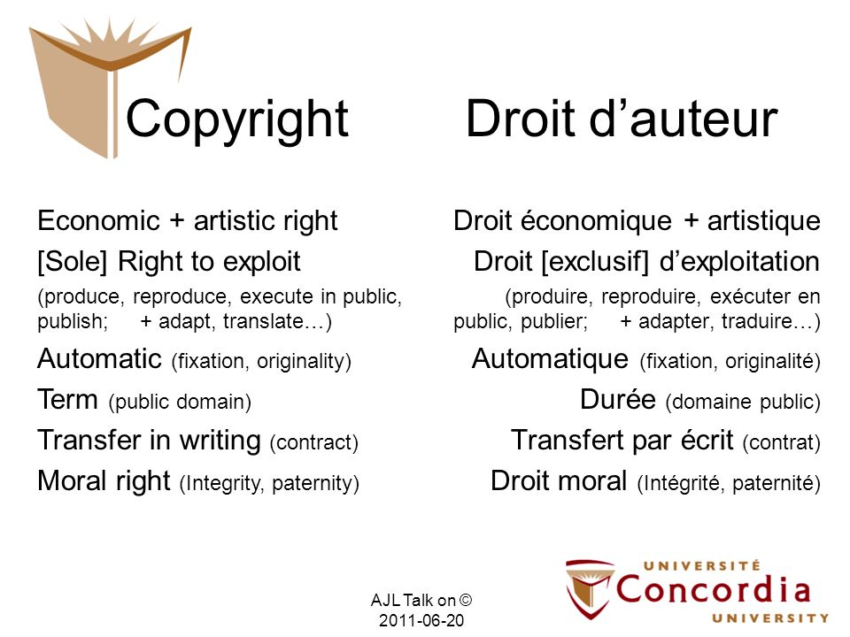Copyright & Contracts & Technology Allow or Forbid Permettent ou Interdisent