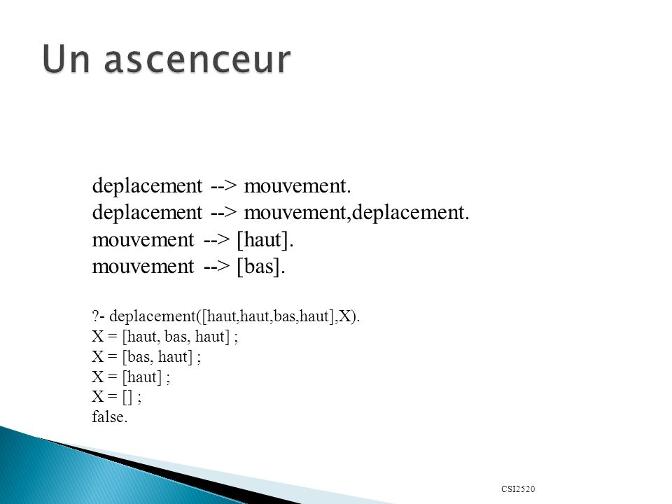 CSI2520 deplacement --> mouvement.deplacement --> mouvement,deplacement.