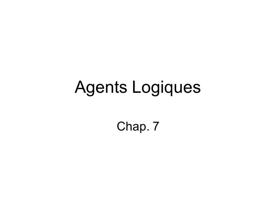Agents Logiques Chap. 7
