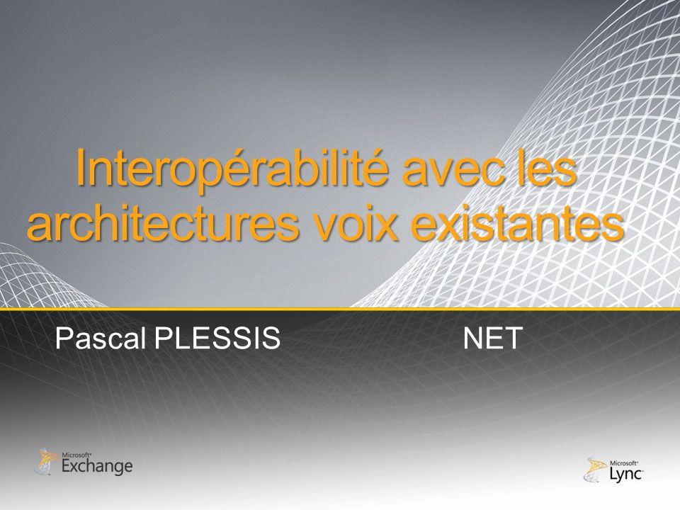 Interopérabilité avec les architectures voix existantes Pascal PLESSISNET