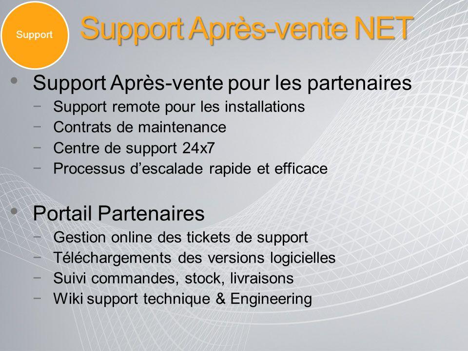 Support Après-vente NET Support Support Après-vente pour les partenaires Support remote pour les installations Contrats de maintenance Centre de suppo