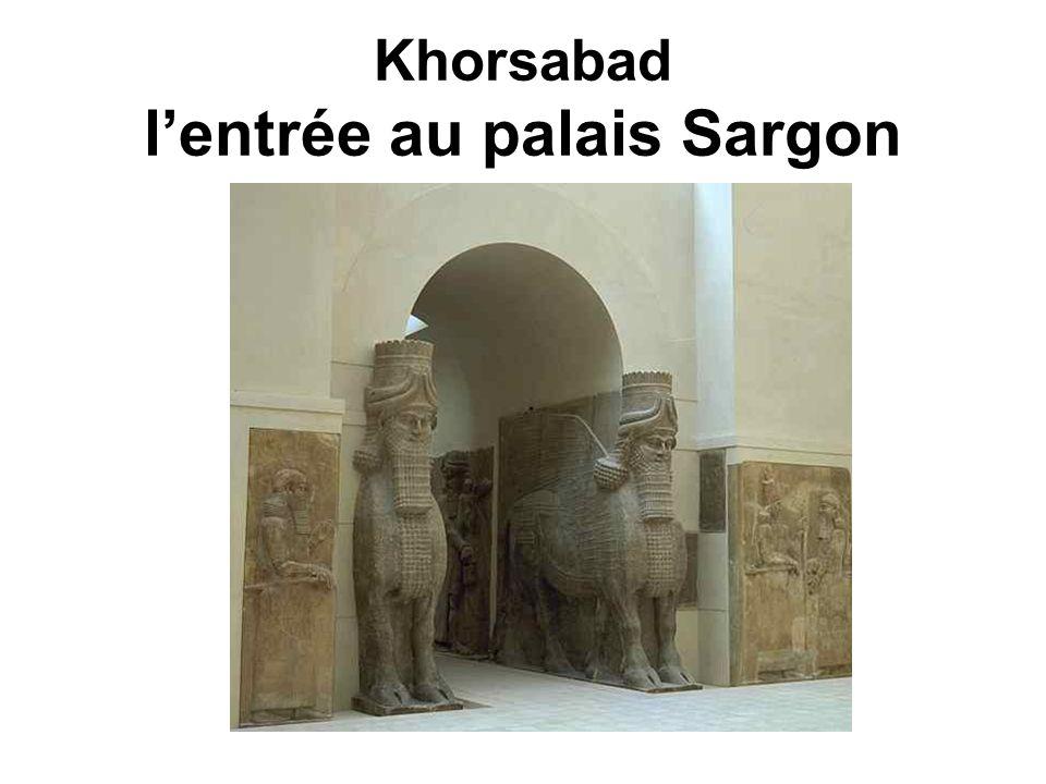 Khorsabad lentrée au palais Sargon