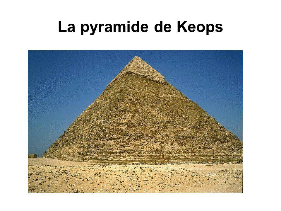 La pyramide de Keops