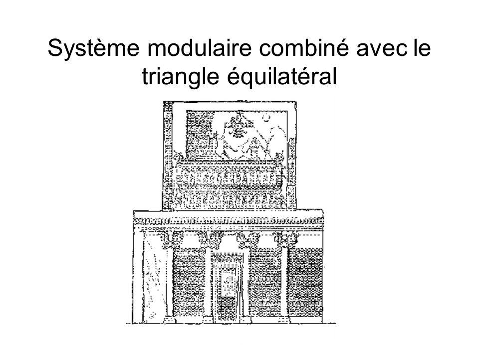 Système modulaire combiné avec le triangle équilatéral