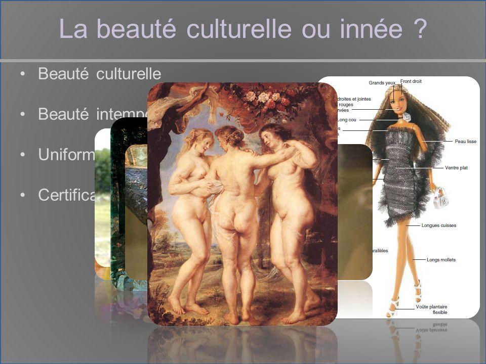 La beauté culturelle ou innée .