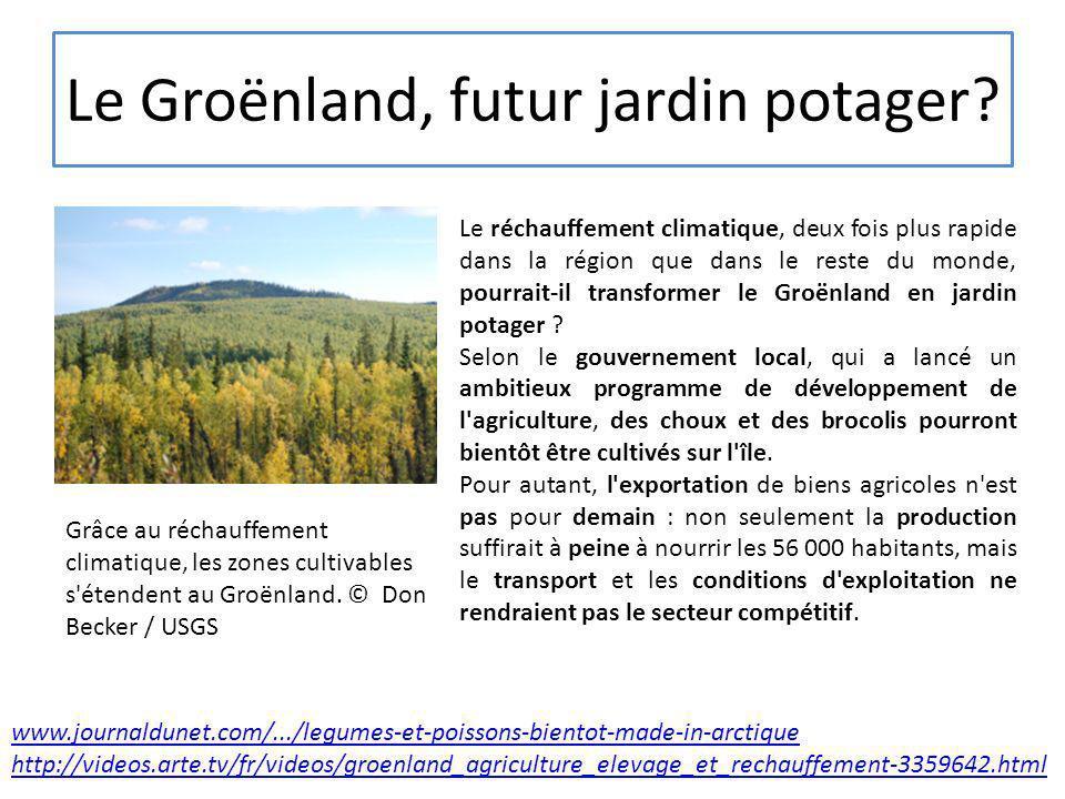 Le Groënland, futur jardin potager? Grâce au réchauffement climatique, les zones cultivables s'étendent au Groënland. © Don Becker / USGS Le réchauffe