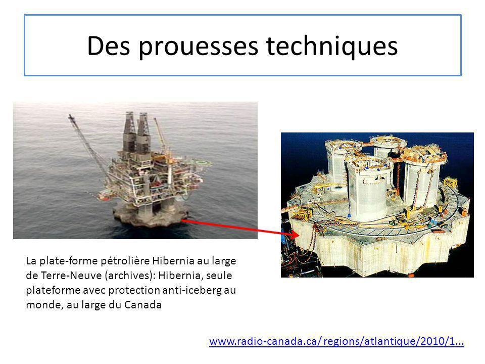 Des prouesses techniques La plate-forme pétrolière Hibernia au large de Terre-Neuve (archives): Hibernia, seule plateforme avec protection anti-iceber