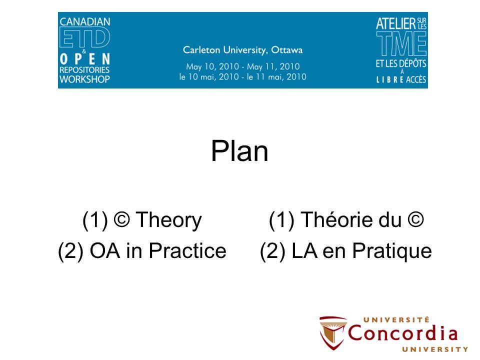 Plan (1)© Theory (2)OA in Practice (1)Théorie du © (2)LA en Pratique