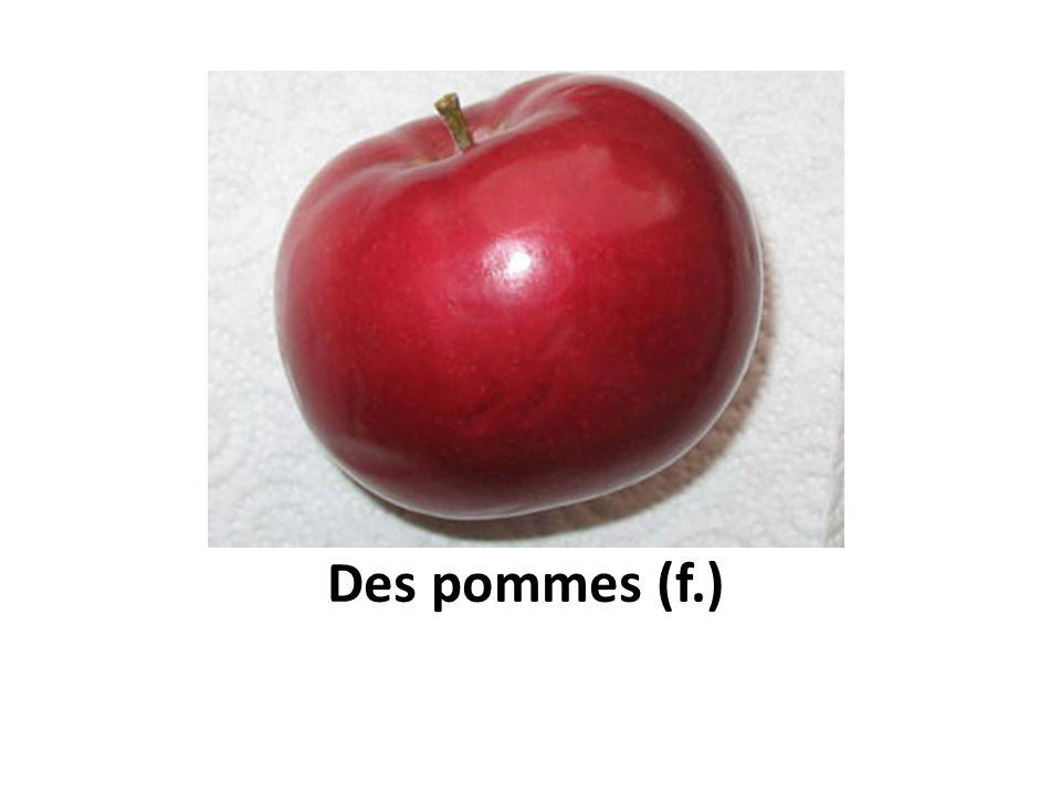 Des pommes (f.)