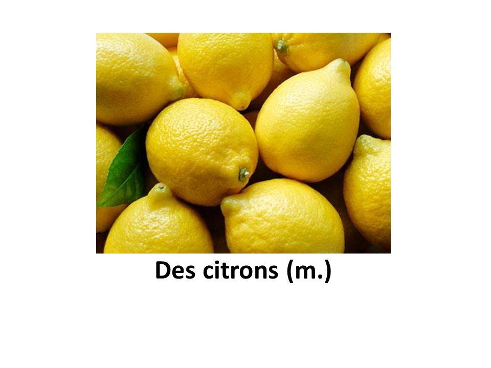 Des citrons (m.)
