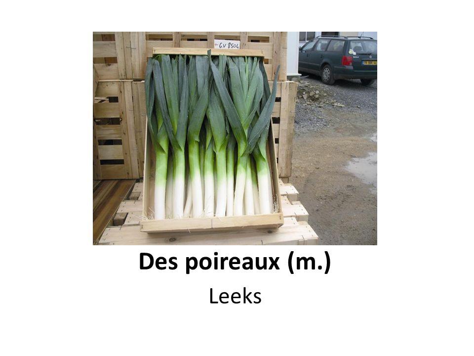 Des poireaux (m.) Leeks