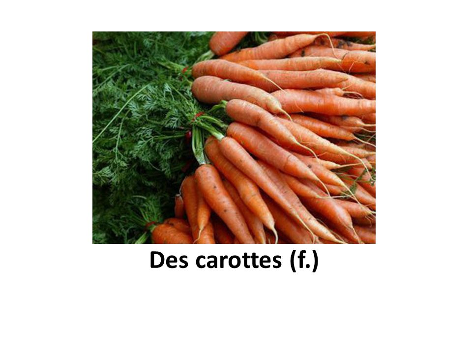 Des carottes (f.)
