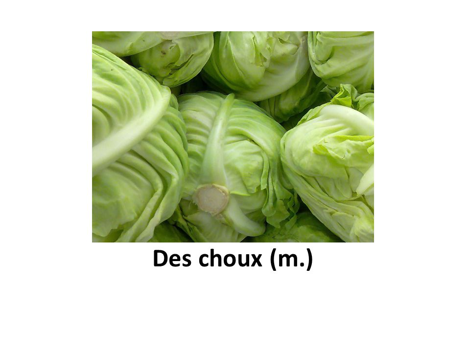 Des choux (m.)