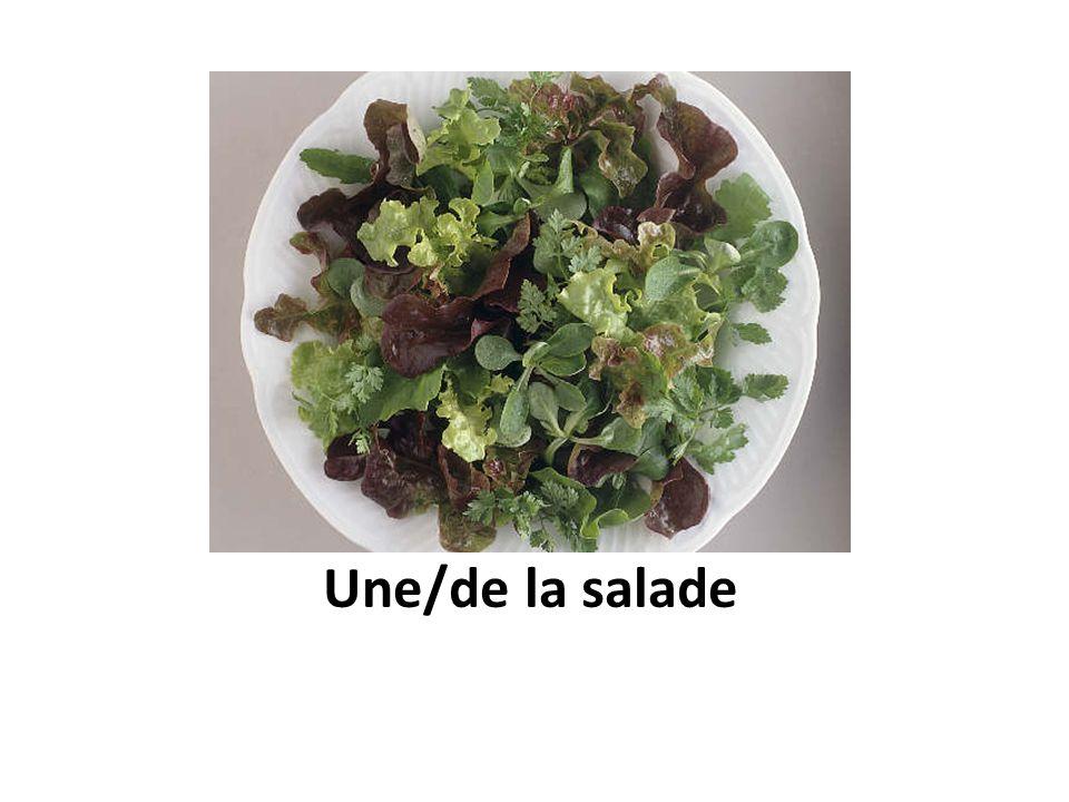 Une/de la salade