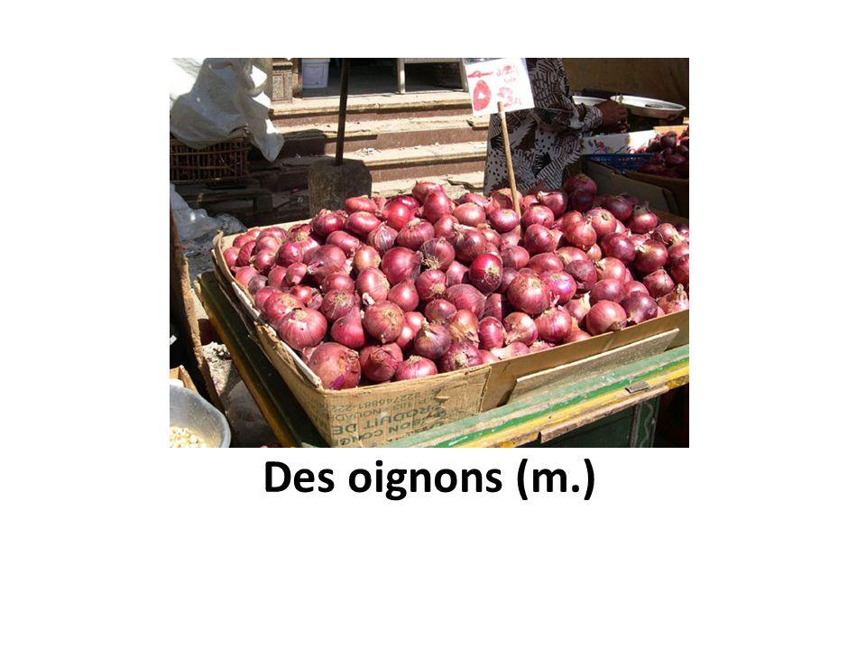 Des oignons (m.)
