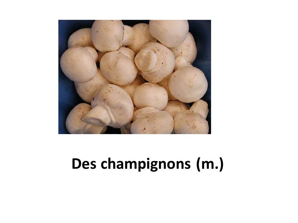Des champignons (m.)
